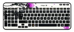 Logitech Wireless Keyboard K360 Fingerprint Flowers