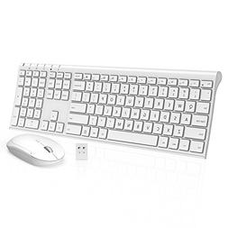 Wireless Keyboard Mouse, Jelly Comb KUS015 2.4GHz Ultra Slim