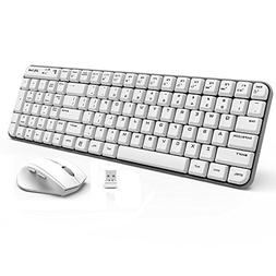 Wireless Keyboard and Mouse - Jelly Comb K025 Compact 2.4Ghz