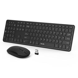 Wireless Keyboard Mouse, Jelly Comb 2.4GHz Full Size Wireles