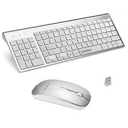 FENIFOX Wireless Keyboard and Mouse, Ultra Slim with Whisper