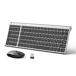Wireless Keyboard Mouse, Jelly Comb 2.4GHz Ultra Slim Compac