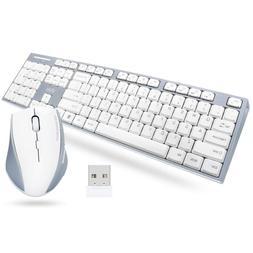 UHURU Wireless Keyboard Mouse Combo, 2.4G USB Compact Full S