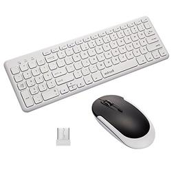 Wireless Keyboard & Mouse Combo, Raydem Full-size Whisper-qu