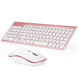 Wireless Keyboard and Mouse Combo, Stylish Compact Full-Size