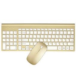 2.4GHz Wireless Keyboard and Mouse Combo, URCO Upgraded 102