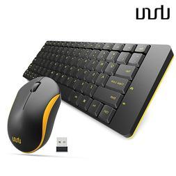 UHURU Wireless Keyboard Mouse Combo Slim 2.4GHz Office Compu