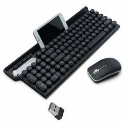 Wireless Keyboard Mouse Set Waterproof Rechargeable Keyboard
