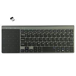 Wireless Keyboard,Attoe Ultra-slim 2.4GHz USB Wireless Keybo