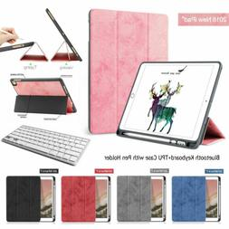 Wireless Keyboard+Smart Case TPU Cover with Pencil Holder Fo