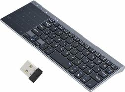 Wireless Keyboard With Touchpad Foldable 2.4GHz For PC Windo