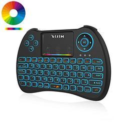 Mitid Wireless Mini Keyboard RGB Backlit 2.4G Remote with Mo