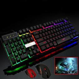 Wireless Mouse Game Keyboard Colorful Crack LED Illuminated
