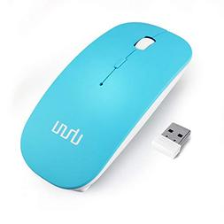 Wireless Mouse, UHURU 2.4G Silent Rechargeable and Portable