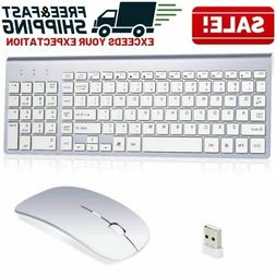 Wireless Mouse Keyboard Combo Ultra Thin Laptop Desktop Comp