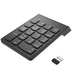 UPWADE Wireless Numeric Keypad, 2.4G 18-Key USB Financial Nu