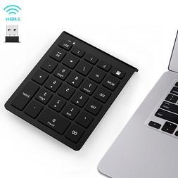 7Lucky Wireless Number Pad, 28-Key Numeric Keypad : Multi-Fu