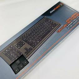 BlackWeb Wireless Silent Keyboard with Low Profile Quiet Tou