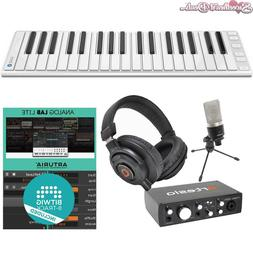 CME Xkey Air 37 Wireless Keyboard - Interface Mic Headphones